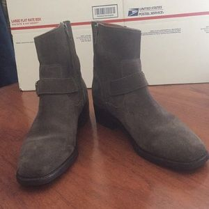 Dark Gray Frye Ankle Boots
